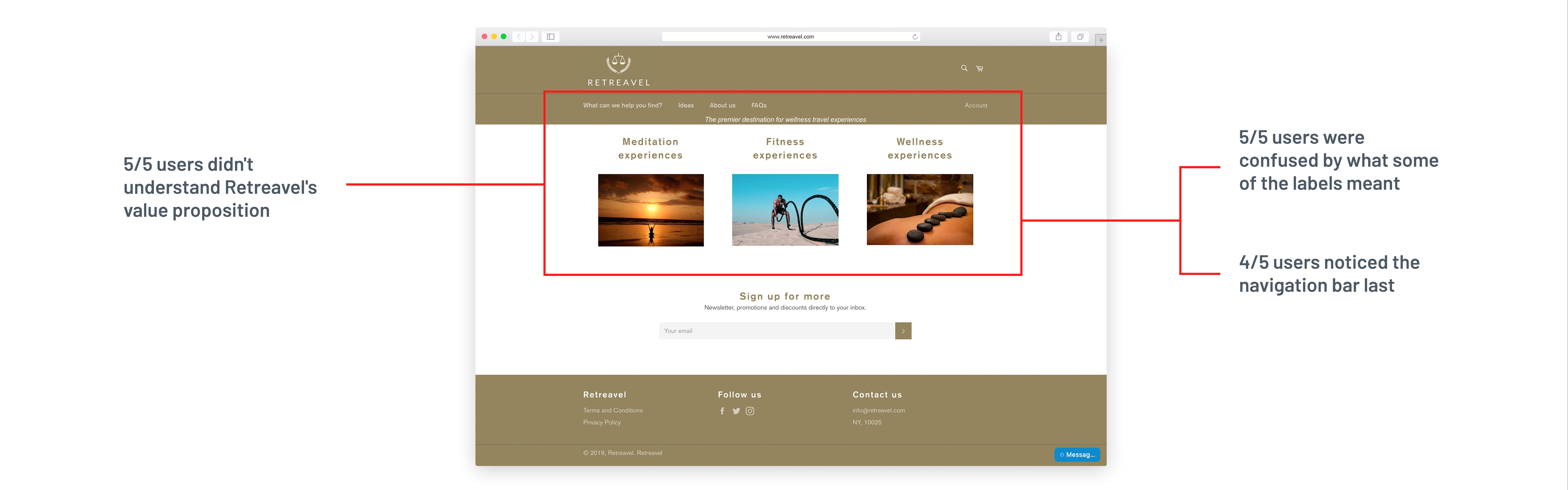 Retreavel Homepage