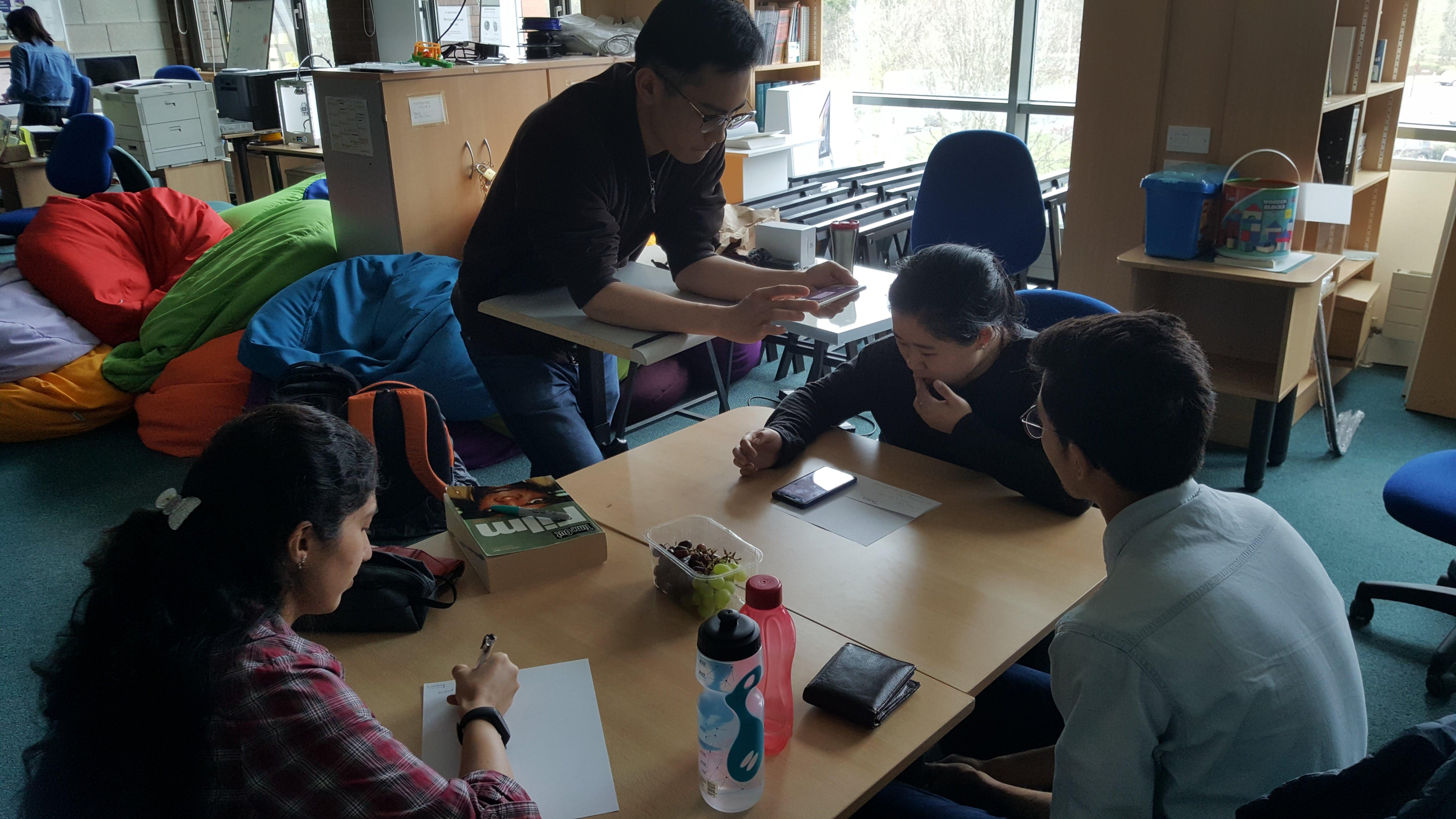 Digital prototype user testing session.