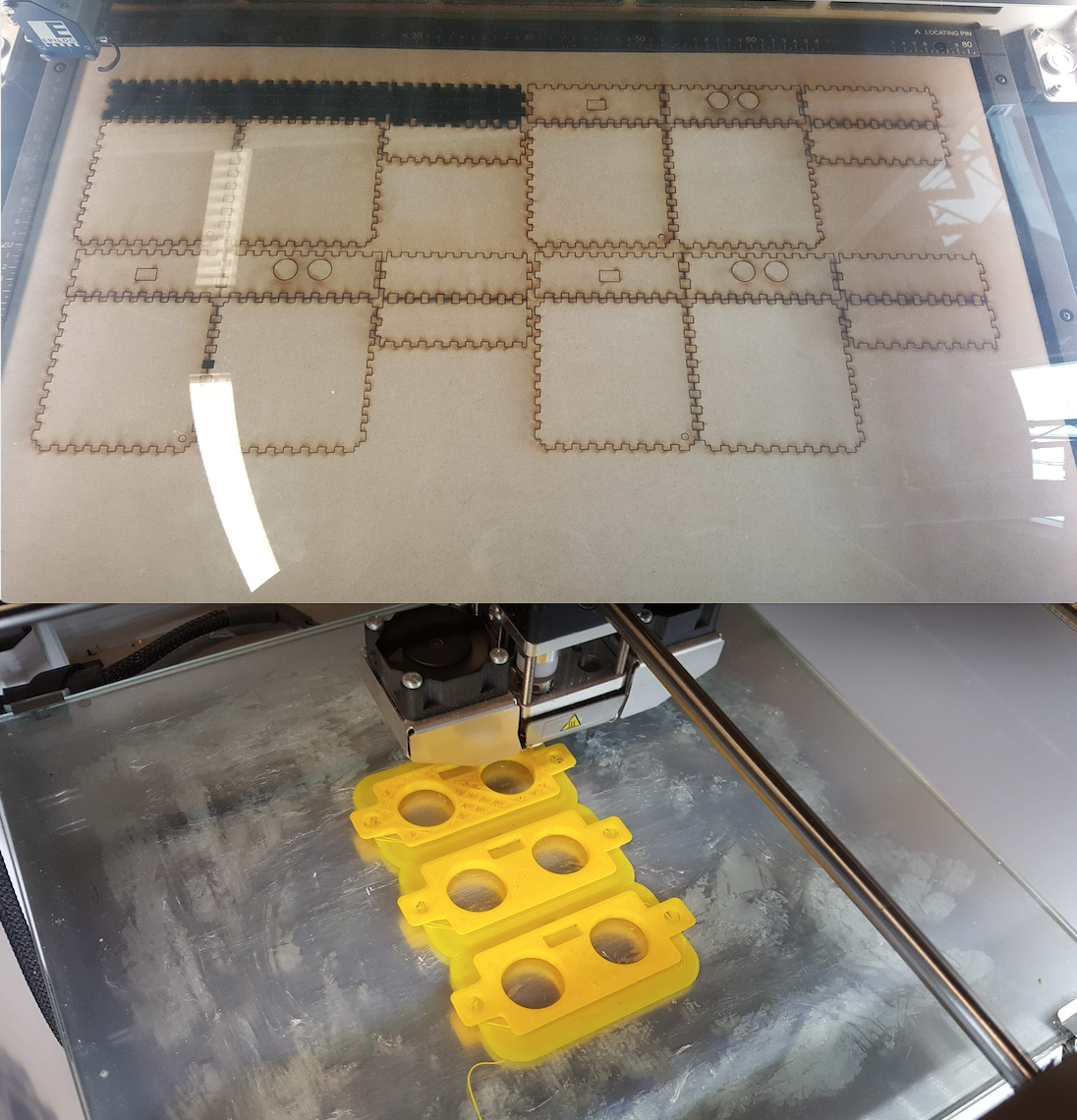 Precision required: Laser cutting and 3D printing