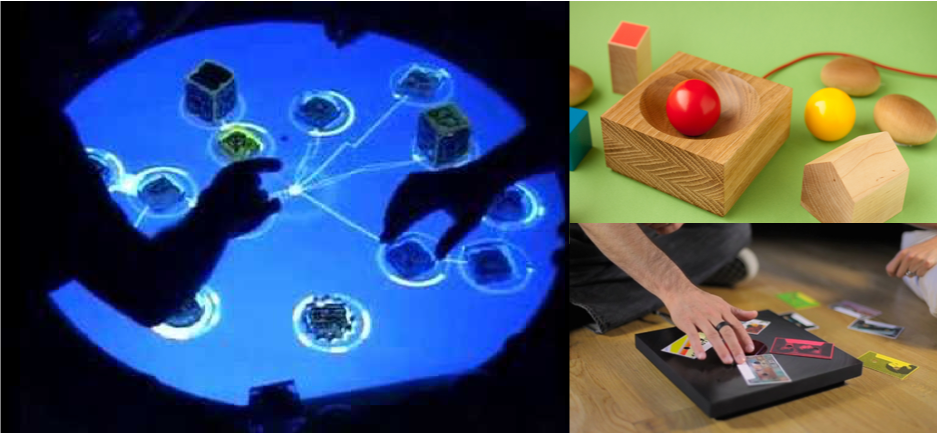 Clockwise from left: ReacTable, Skal and Ideo's C60 Music Player