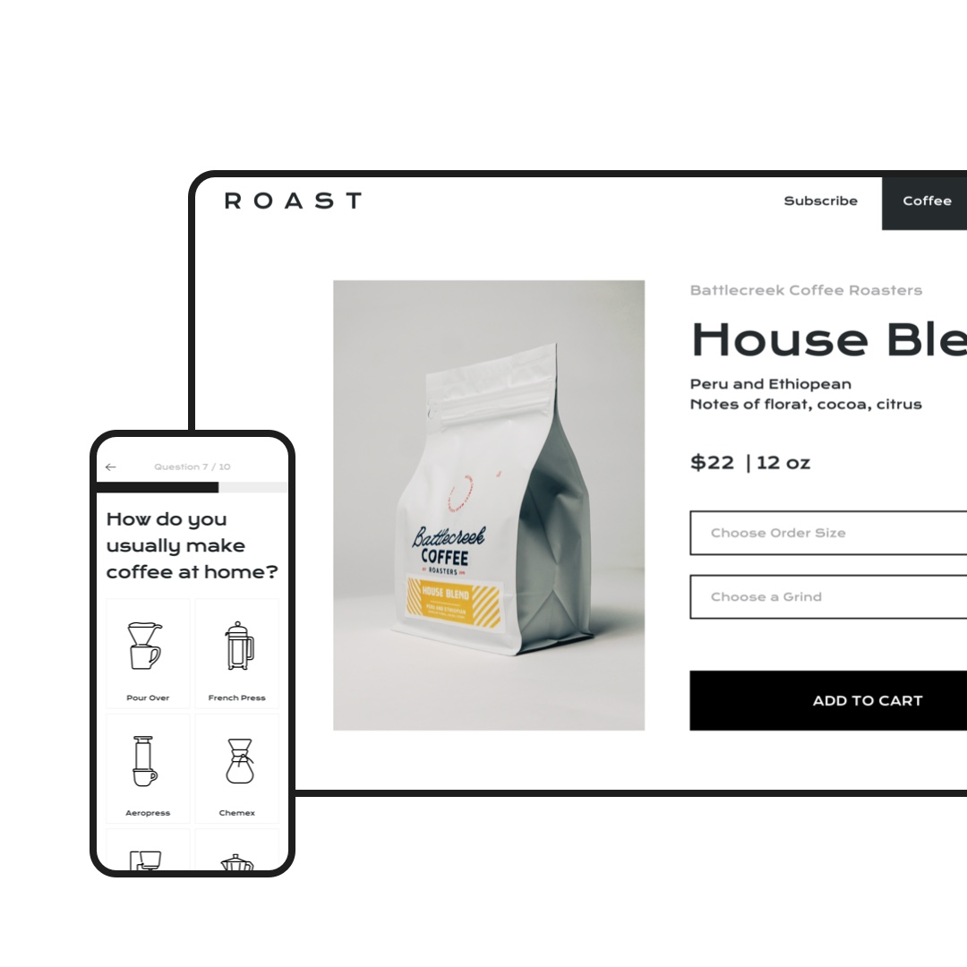 ROAST Online Coffee Shop