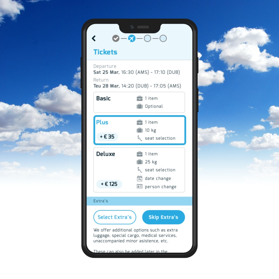 A mobile flight booking app prototype