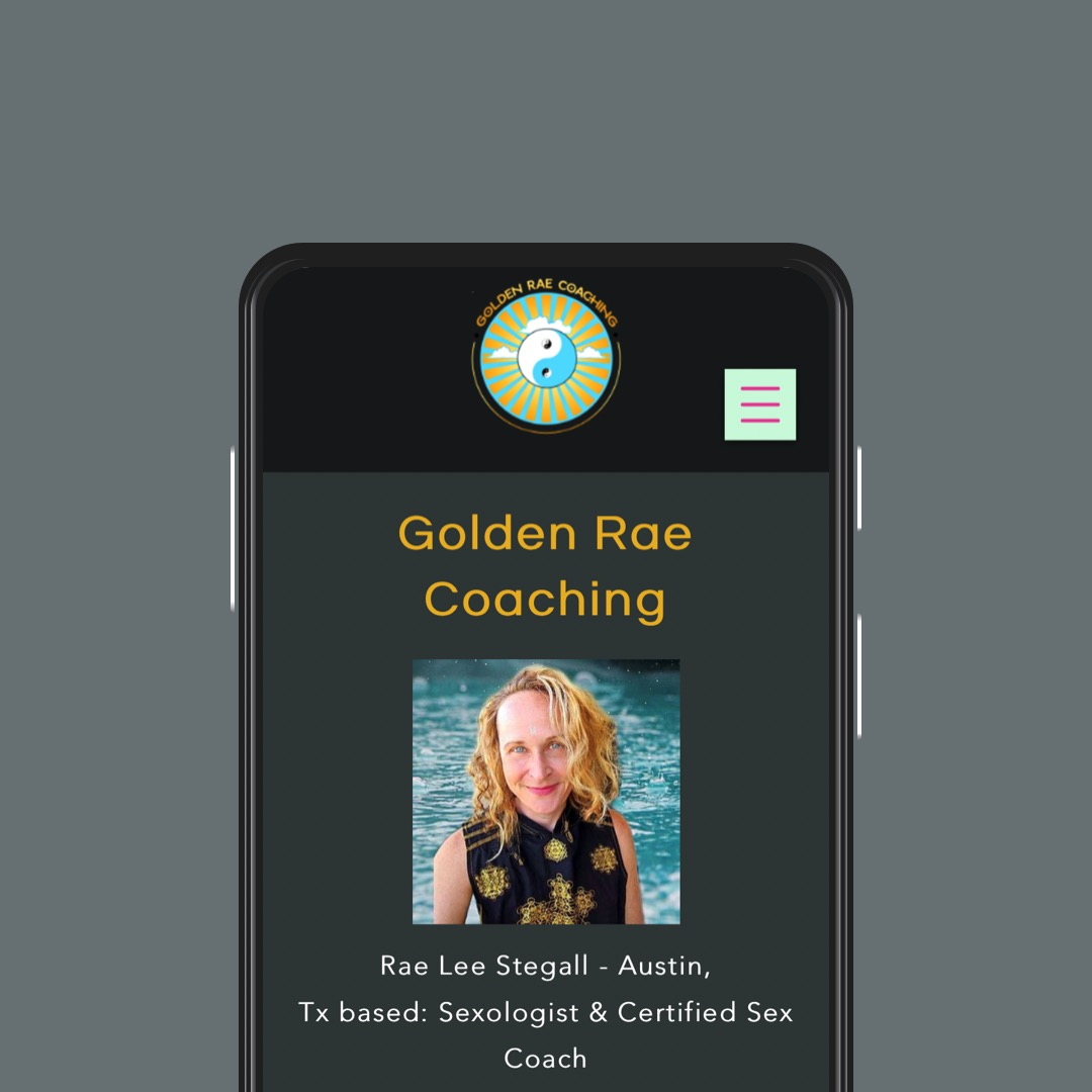 Golden Rae Coaching, UI Design and Information Architecture