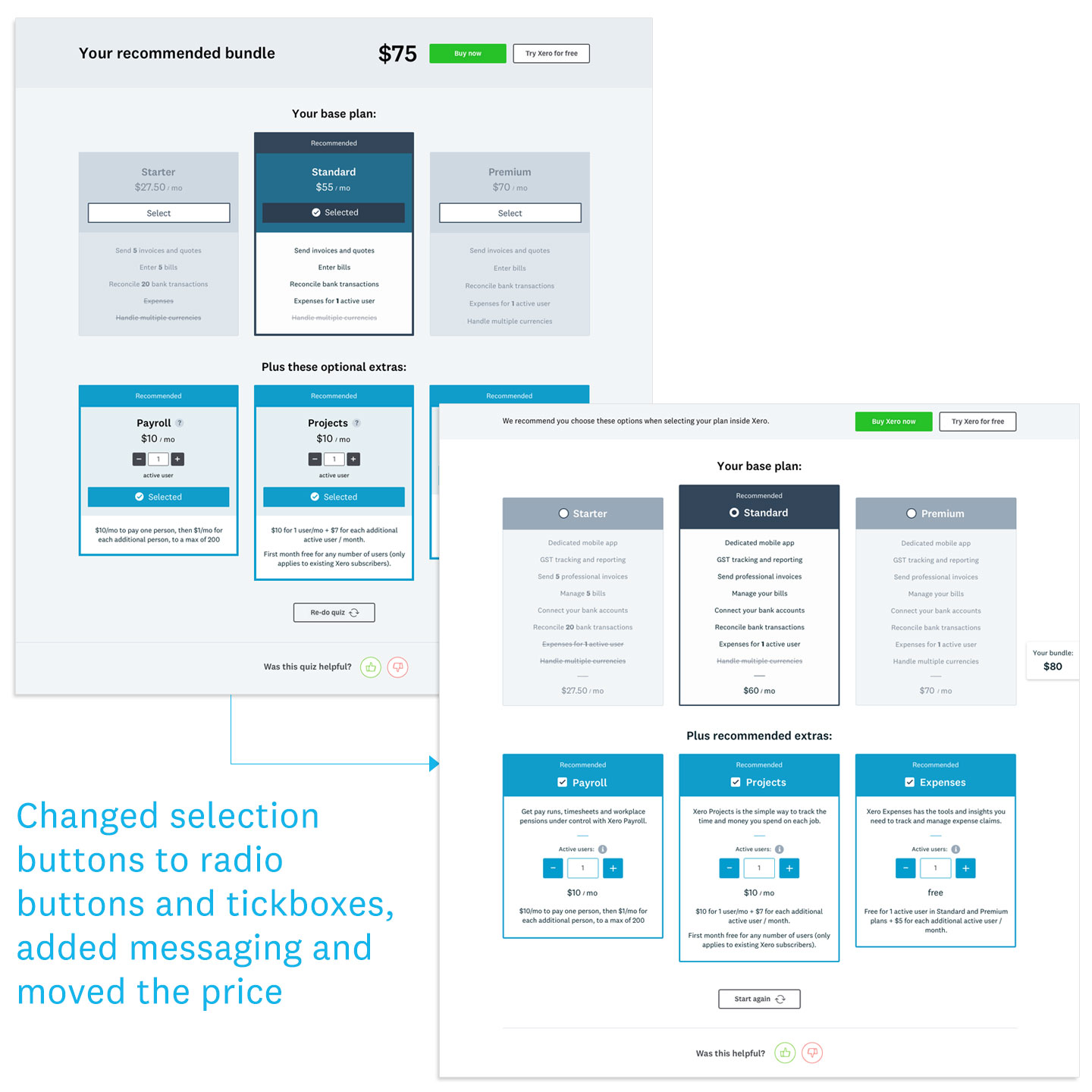 PRICING PLAN RECOMMENDATION TOOL