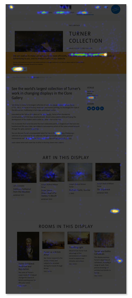 I ran heat maps and scroll maps on the existing pages to assess user behaviour.