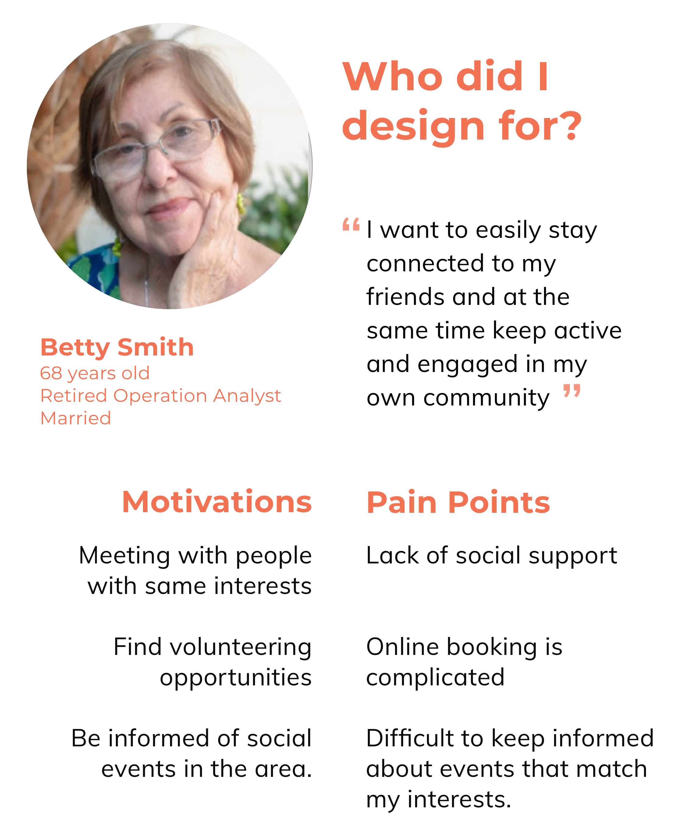 UX Case Study: Empowering seniors to stay connected and active