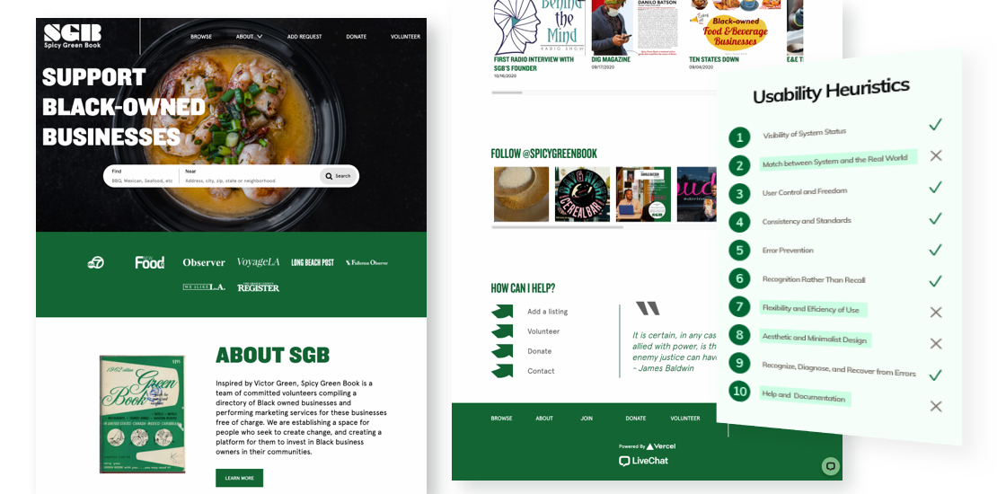 UX DESIGN | Spicy Green Book Website