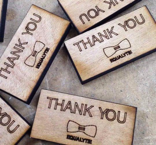 Adding value to our users by surprising them with Thank you notes when they purchased an Equalytie product