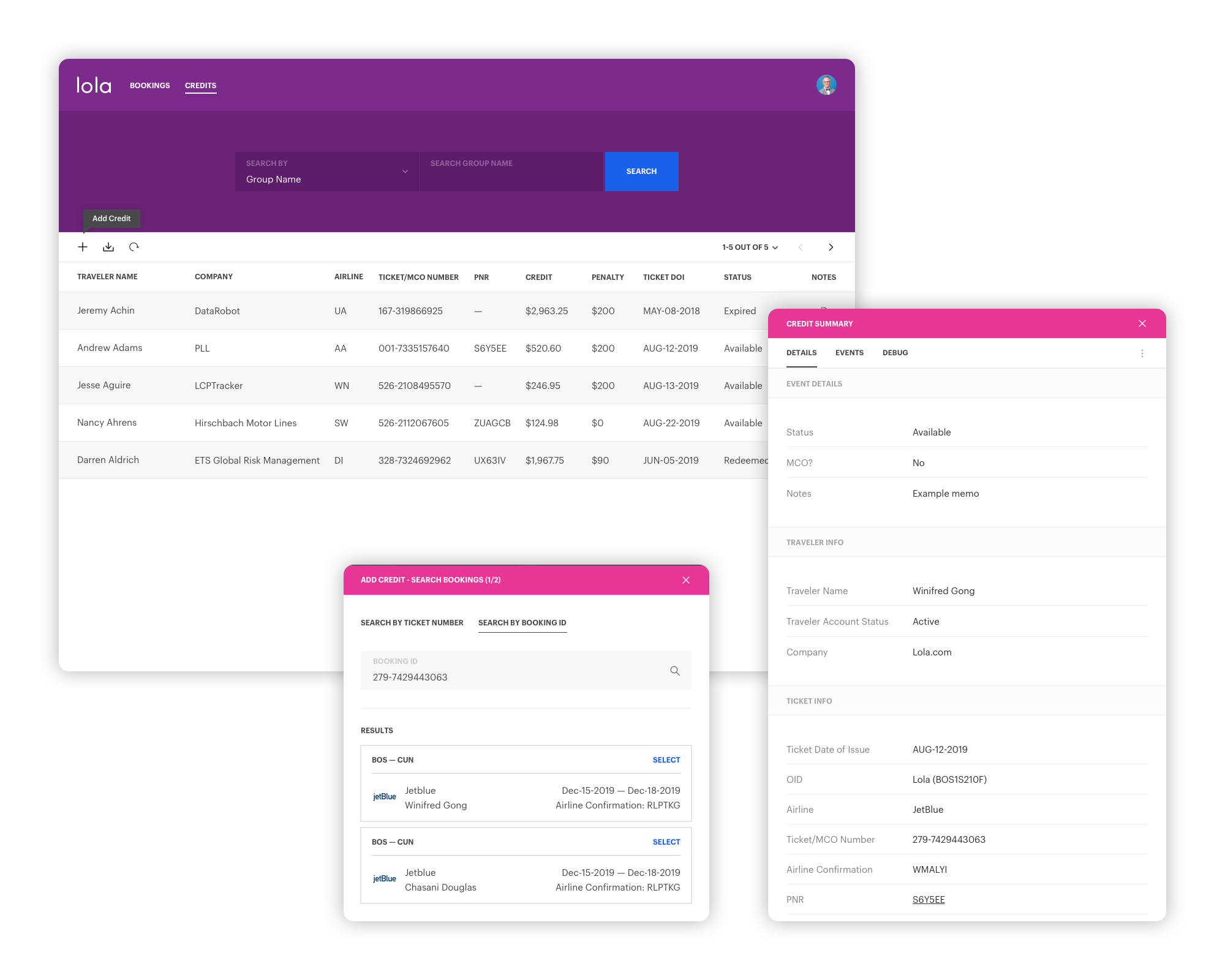 See the full credit management prototype →