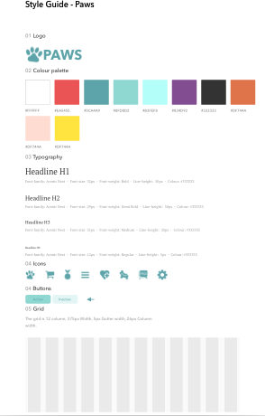 This style guide was evolved over the course of testing to make sure it was updated to the latest design style.