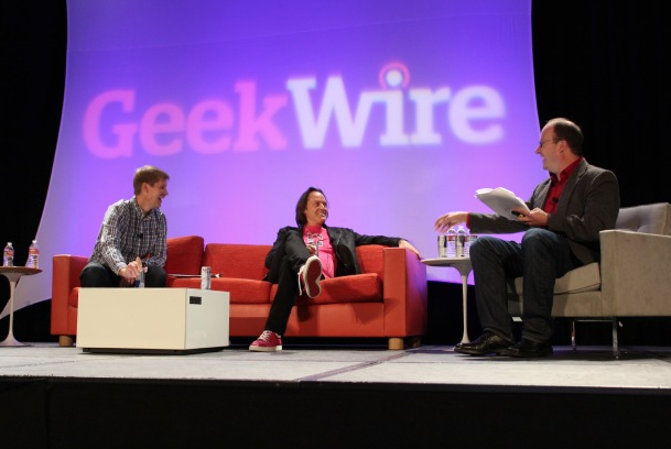 GEEKWIRE.COM WAS FOUNDED IN 2011 BY JOHN COOK, LEFT, AND TODD BISHOP, RIGHT. GEEKWIRE.COM IS A NEWS SITE WITH CONTENT THAT COVERS A VARIETY OF TOPICS RELATED TO THE TECH INDUSTRY.