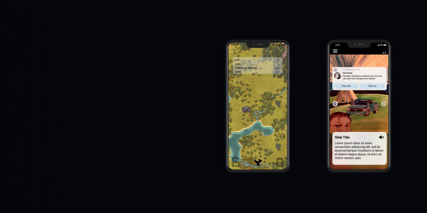 native mobile educational gamification app design