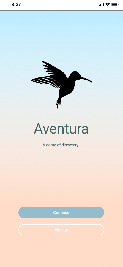AVENTURA IS A NATIVE MOBILE DESIGN FOR A LANGUAGE LEARNING GAME
