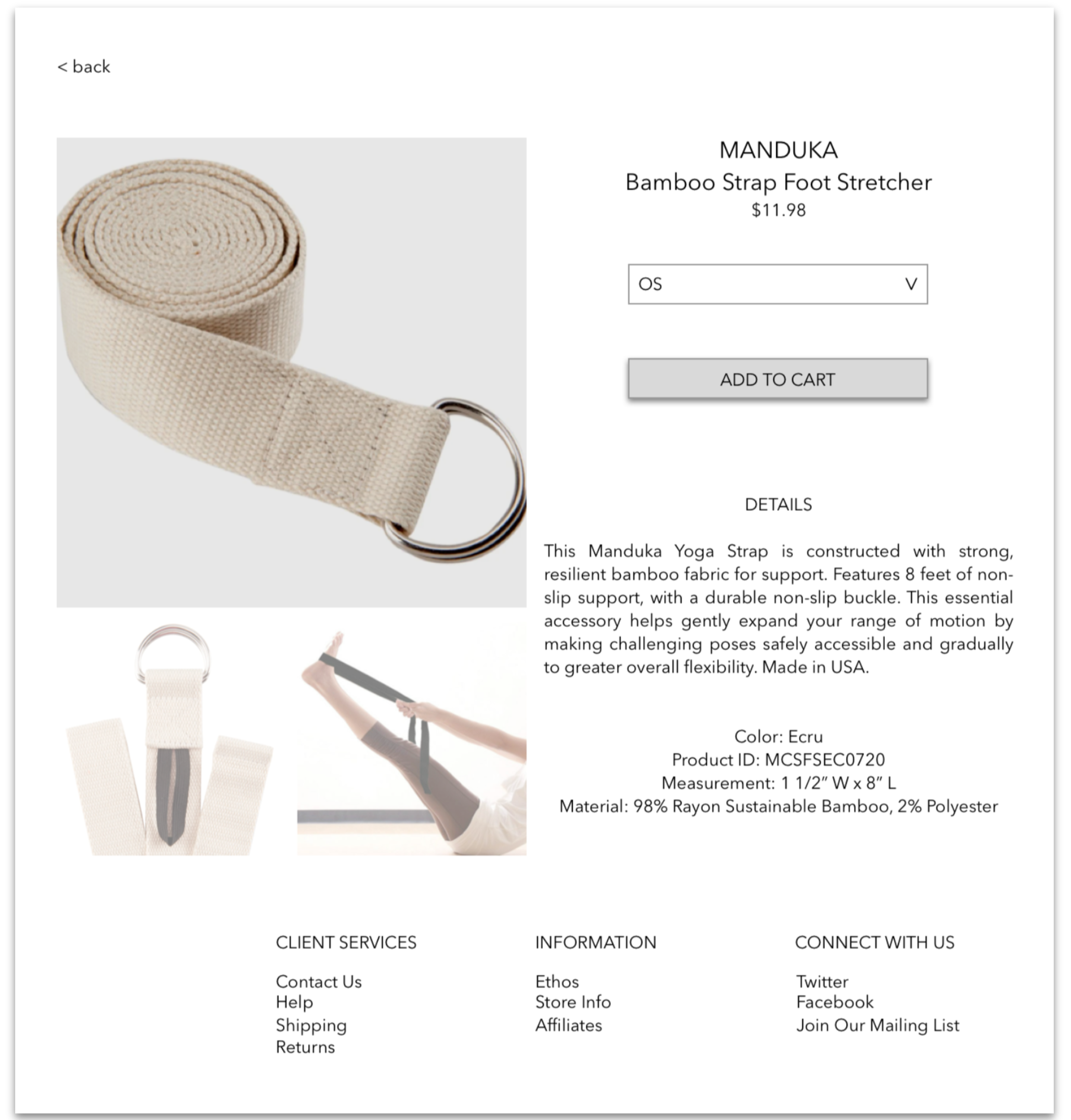 IMPROVED PRODUCT PAGE FOR FOOT STRETCHER