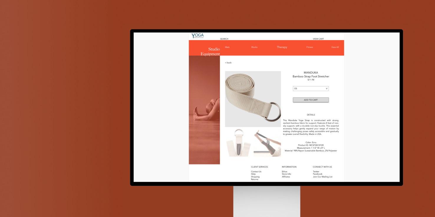 e-commerce desktop design