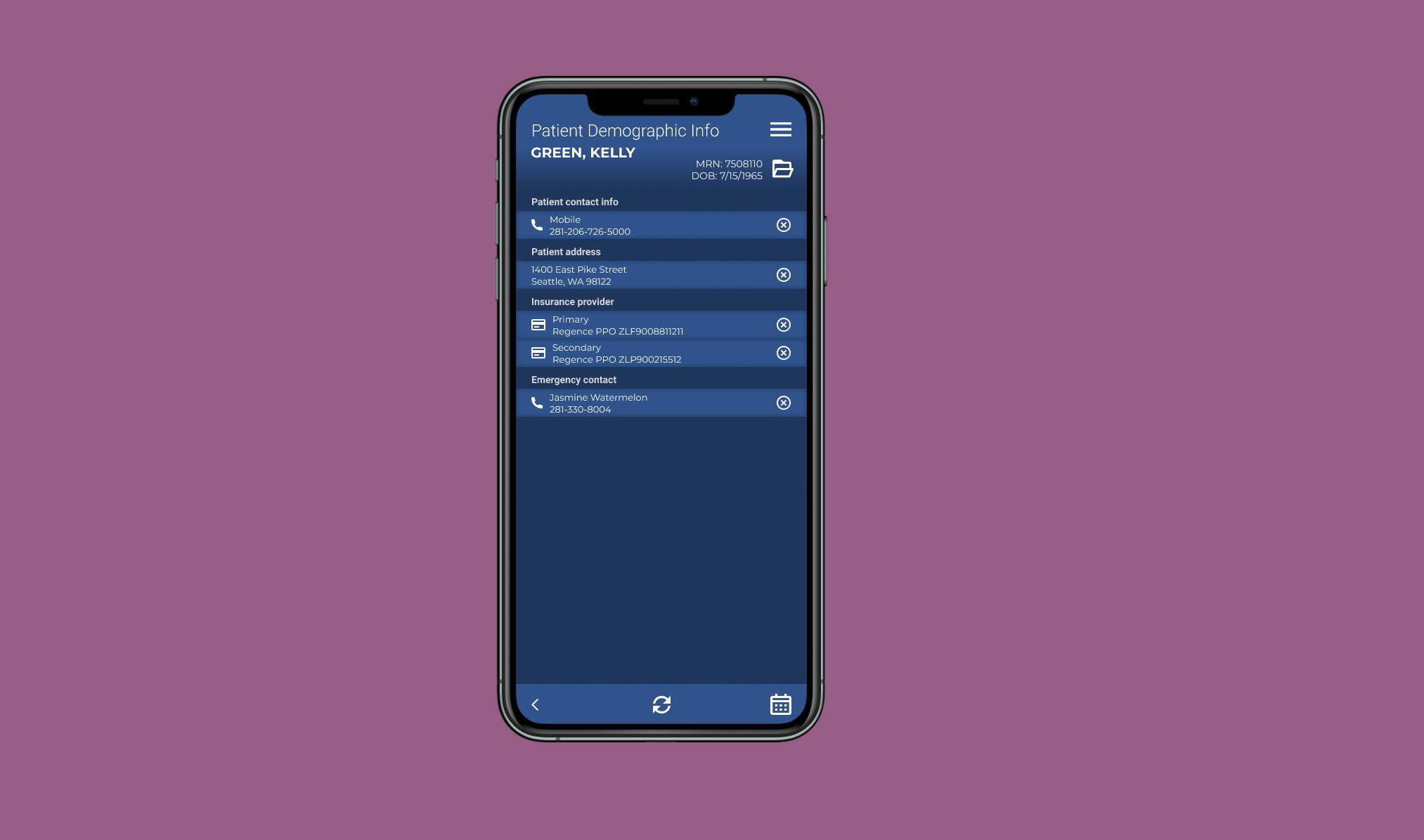 native mobile patient chart access