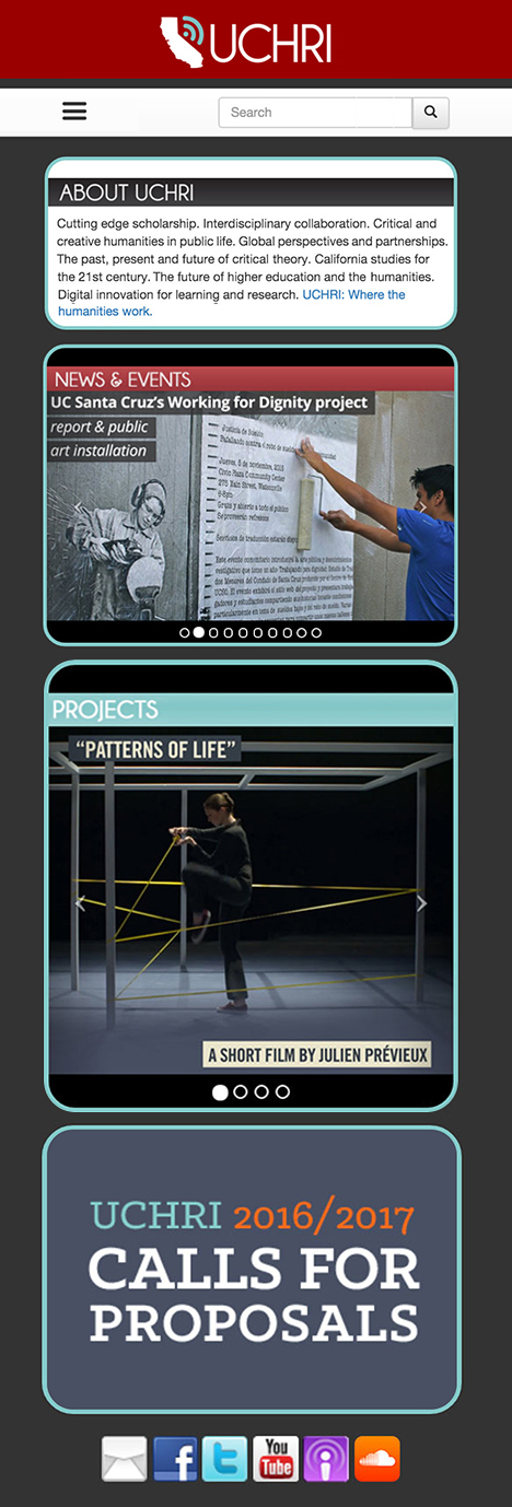 Web & Print Design: University of California
