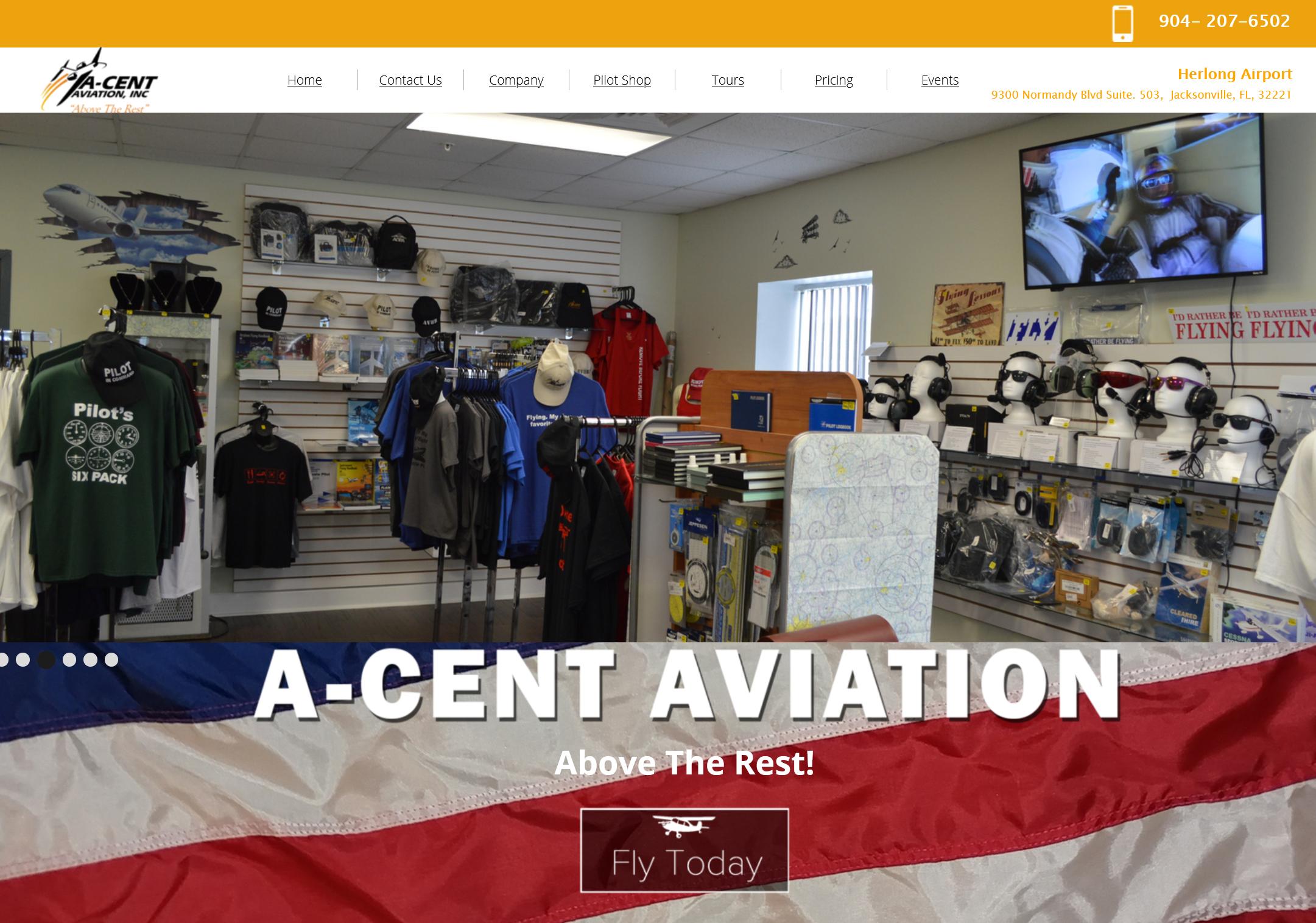 A-Cent Aviation's Original Website