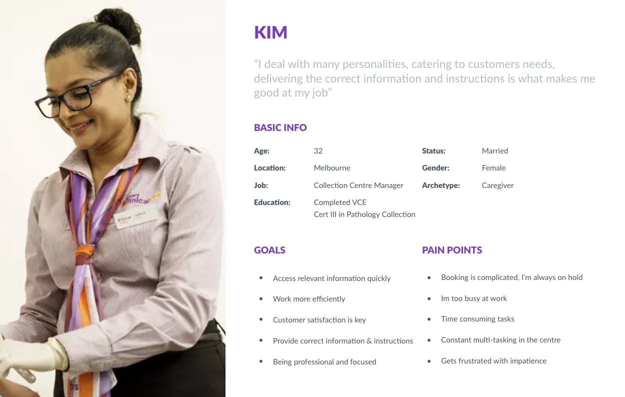 Persona Development - Generic Image Clinical Labs staff member