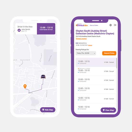 Medical Courier Booking Service App