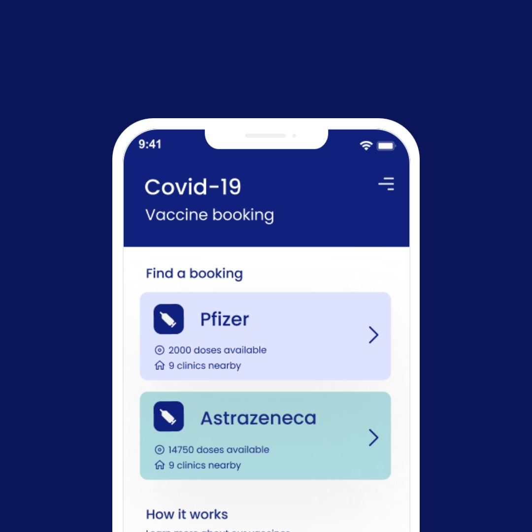 COVID-19 Vaccination Booking App