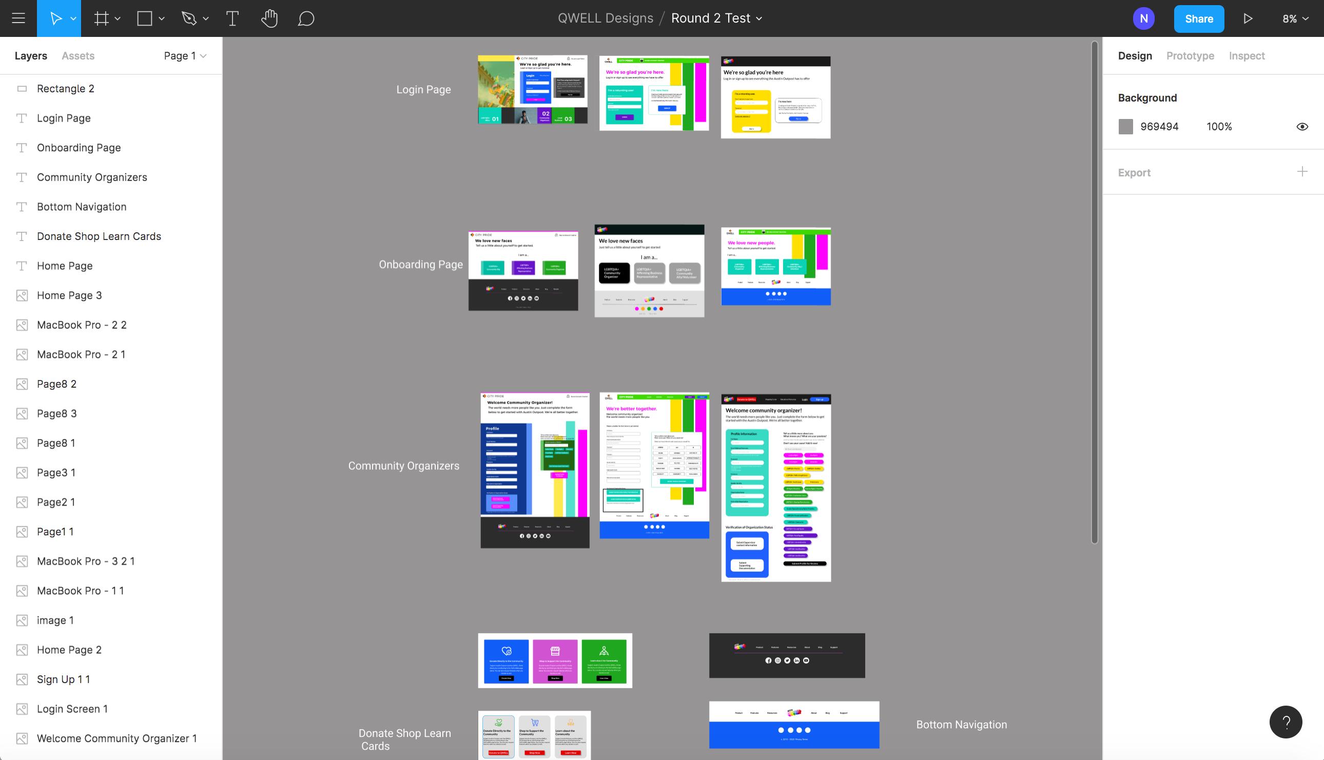 City Pride website- UX/UI Design