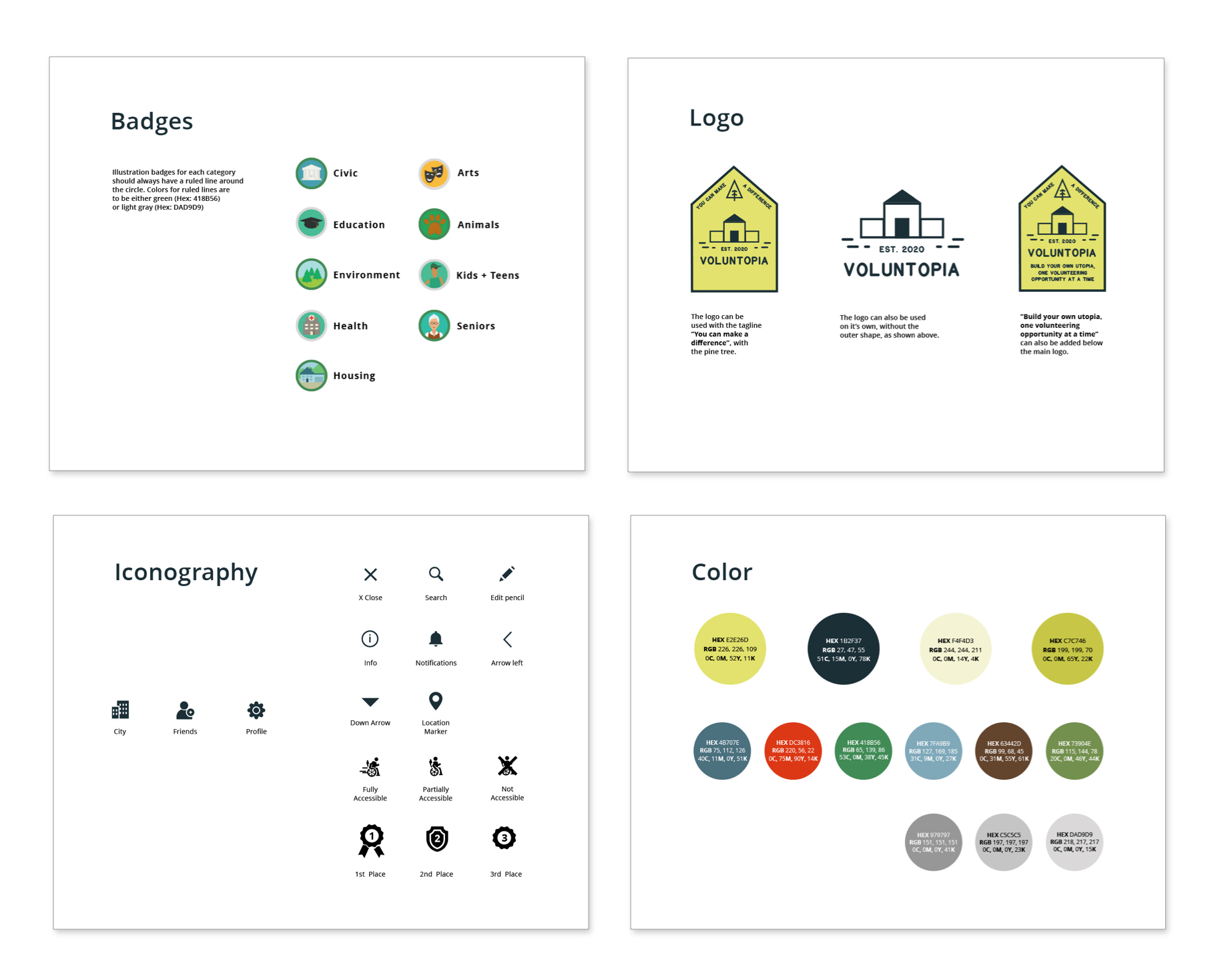Voluntopia iOS app - Product Design