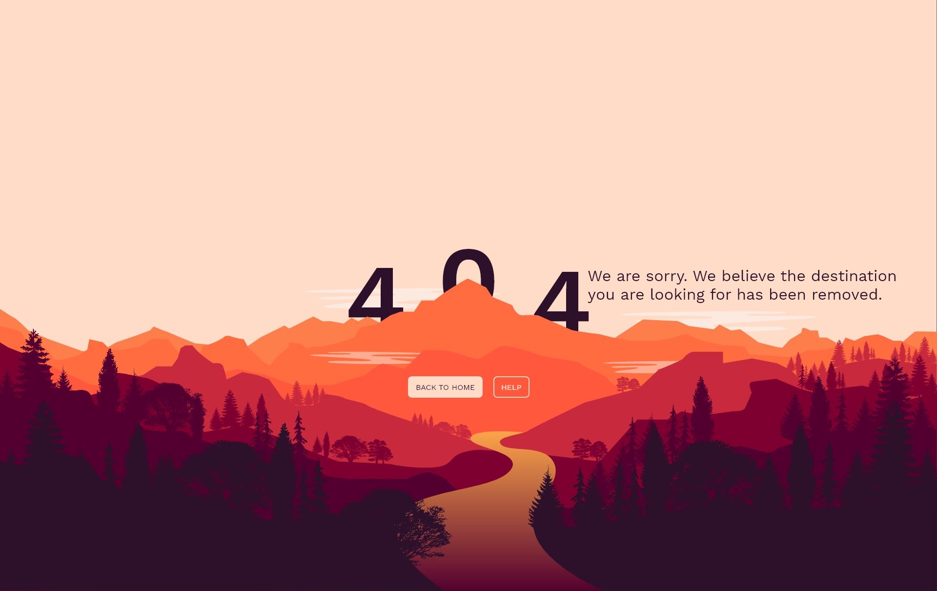 404 Error page.