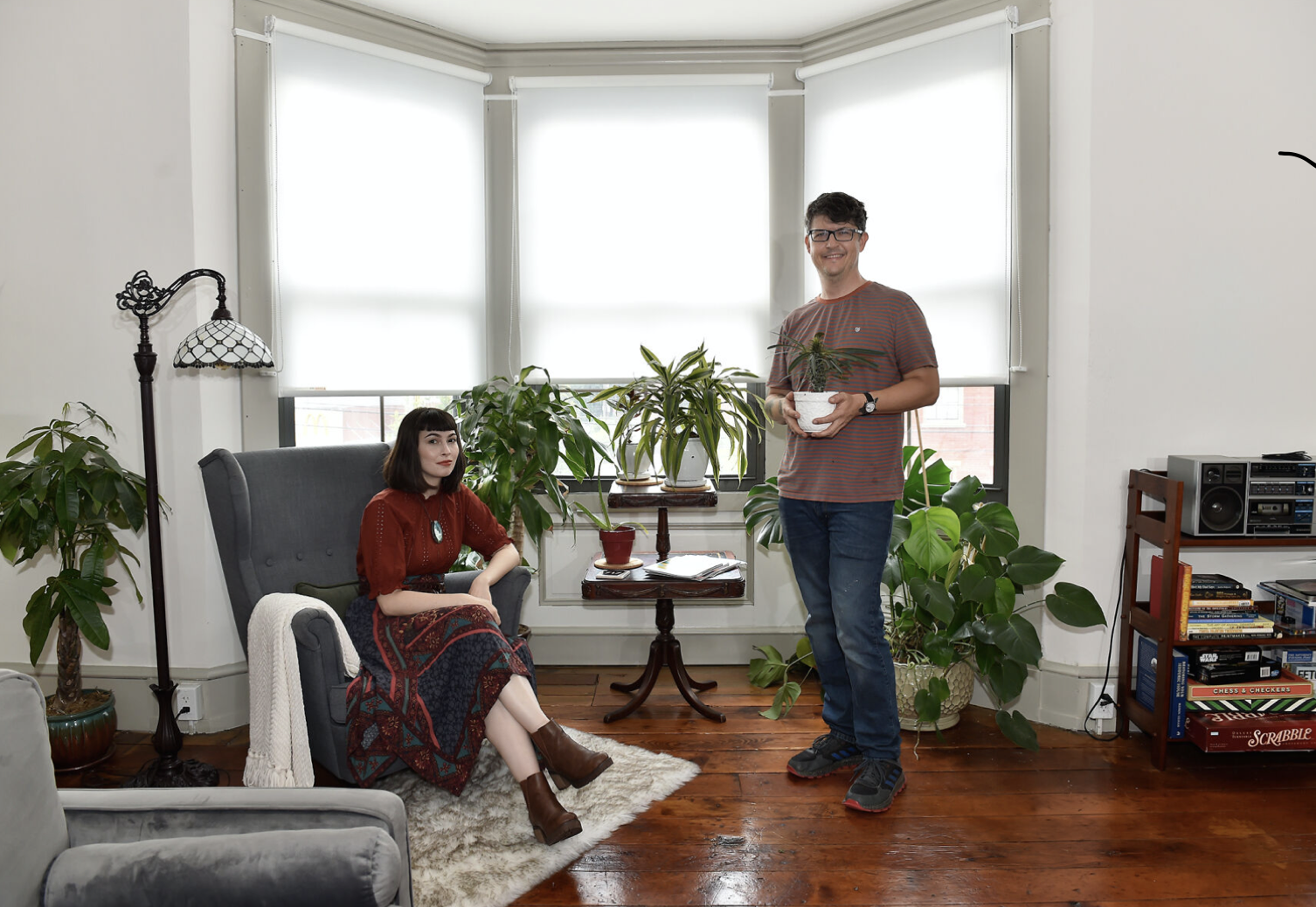 Evan Young and Emily Moccero's plant-filled Airbnb, which is decorated by over 80 different house plants. Source: LancasterOnline