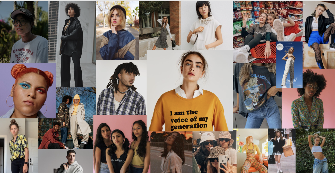 This moodboard helped align the group to get a better understanding of Gen Z's vibe, popular fashion choices, their diversity, and the ideal shopping experience.
