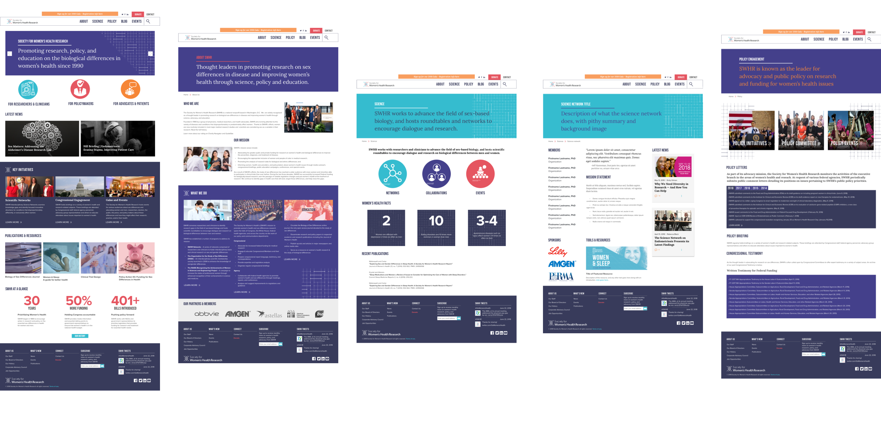 Society for Women's Health Research - Website redesign