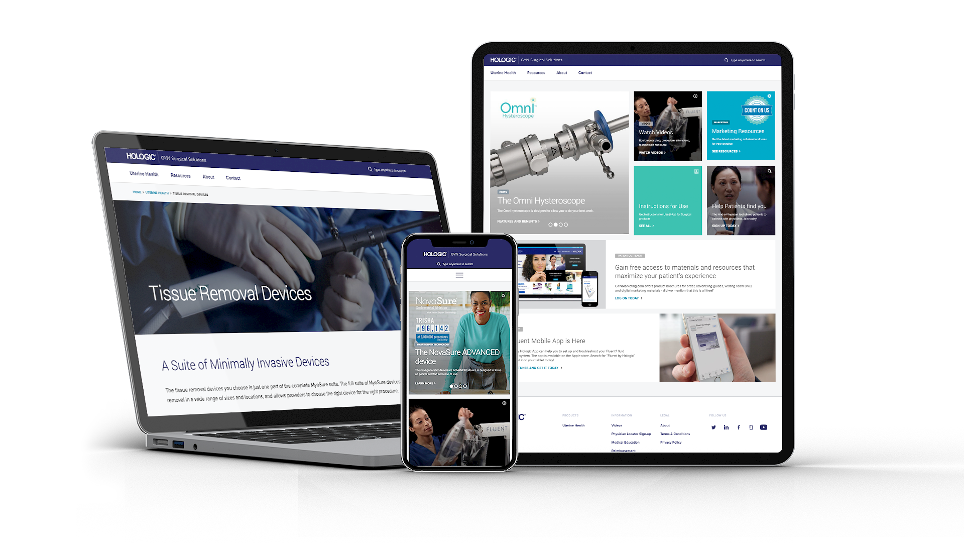 Medical Device Product Website