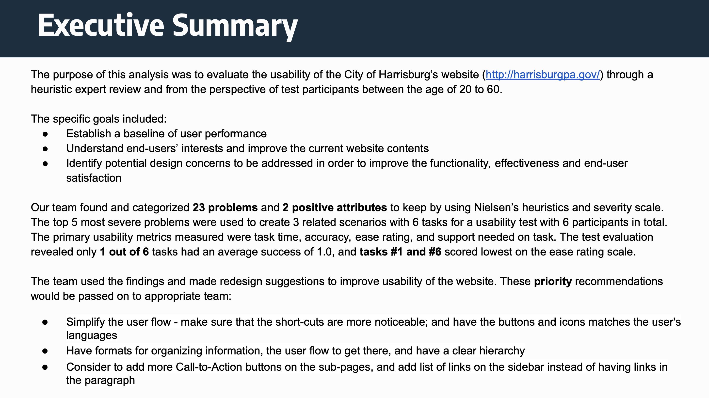 Harrisburg Website Redesign
