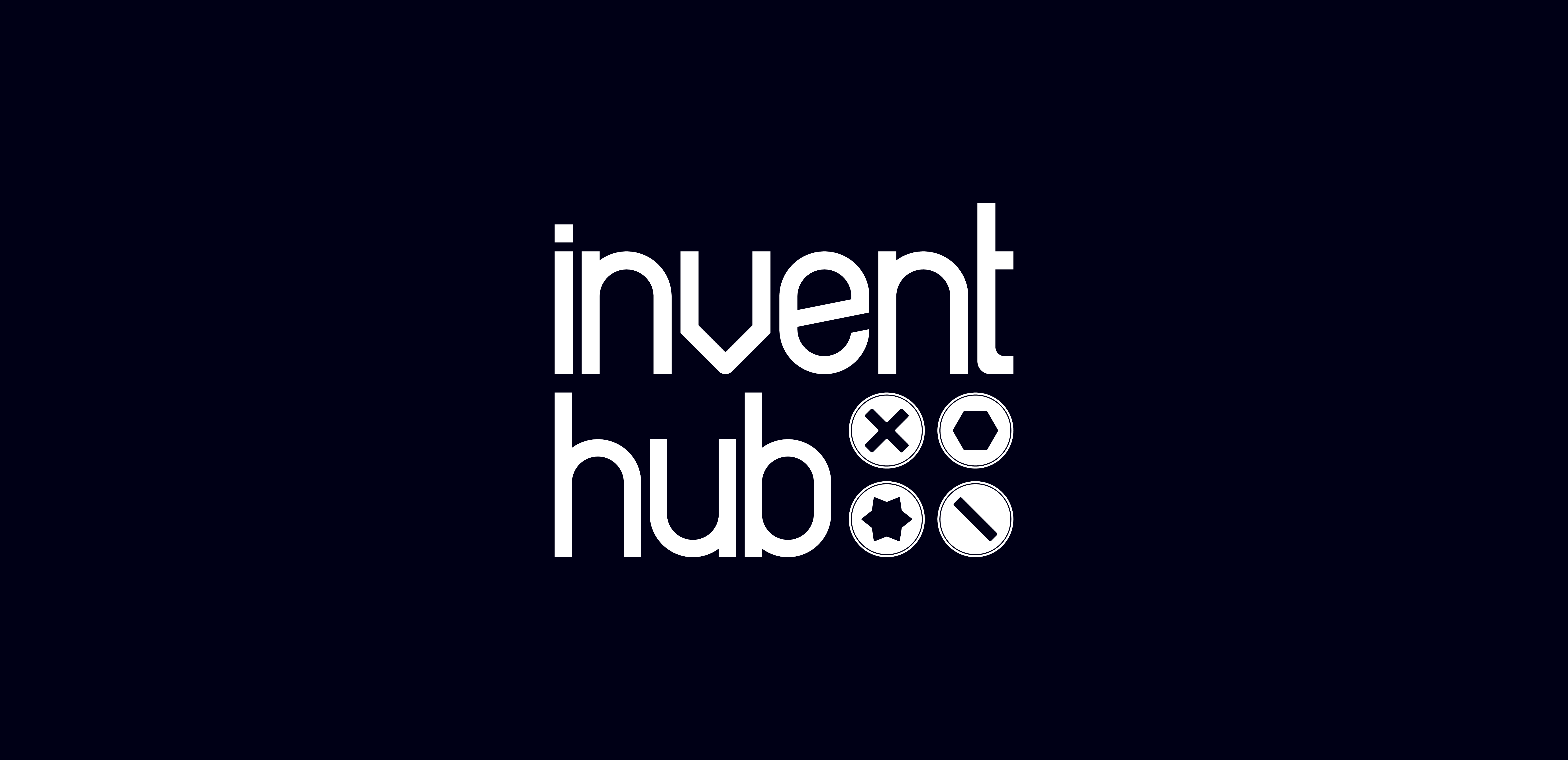 InventHub logo in white