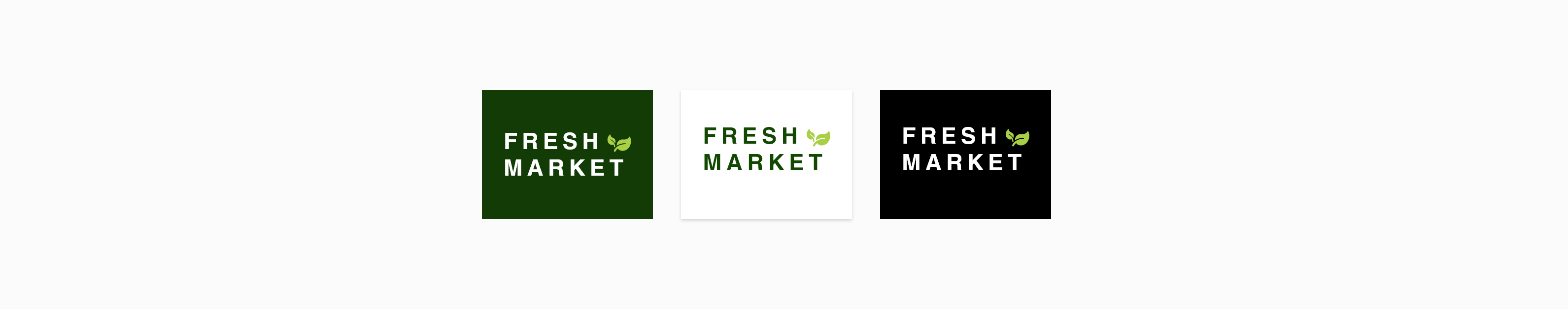 Logo of the website in three different background-color