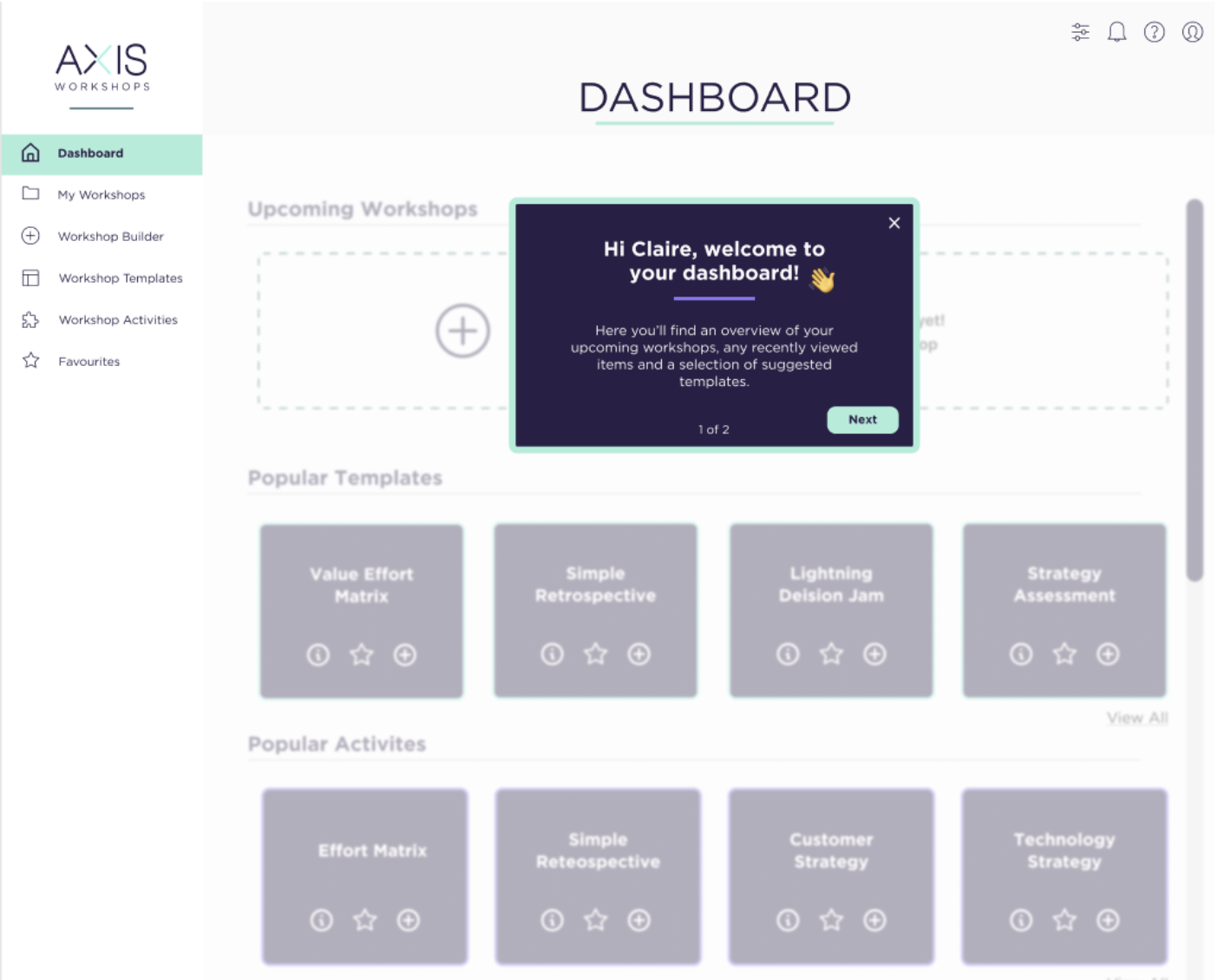 Our final design of the dashboard