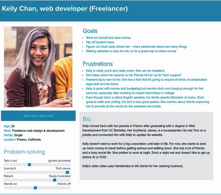 Kelly Chan, a 24-year-old tech-savvy freelance web developer