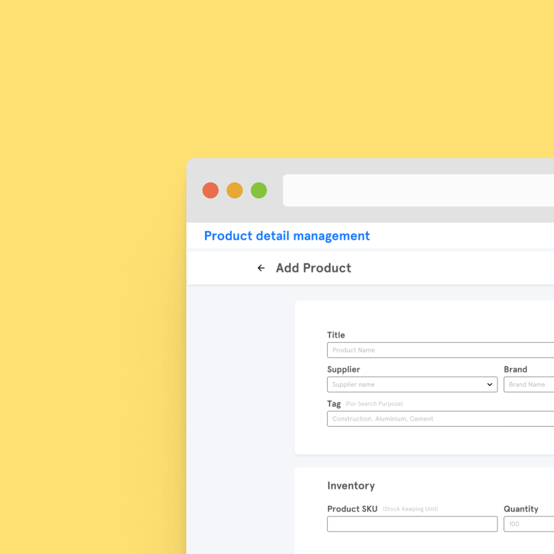 Product detail admin