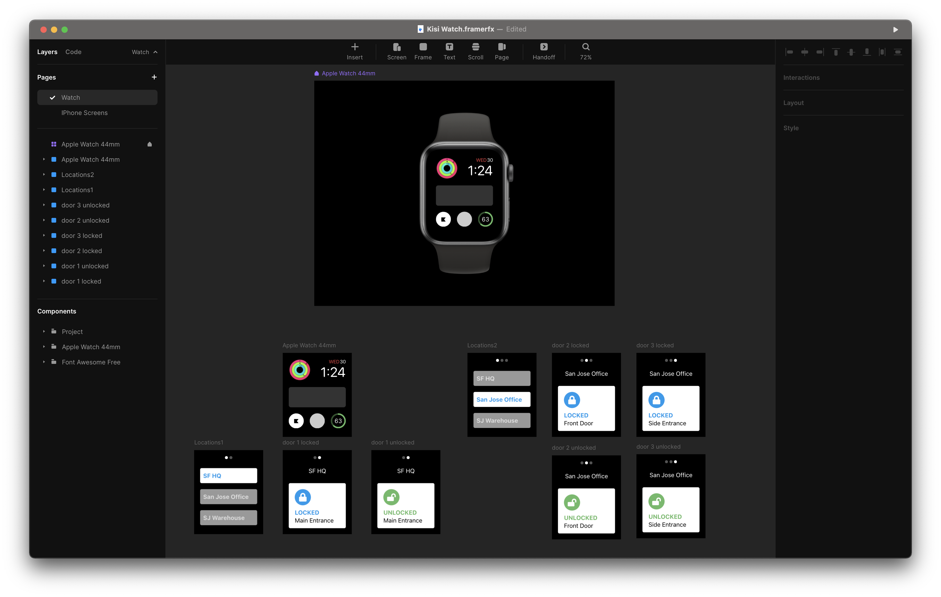 Framer is great for high fidelity prototyping.