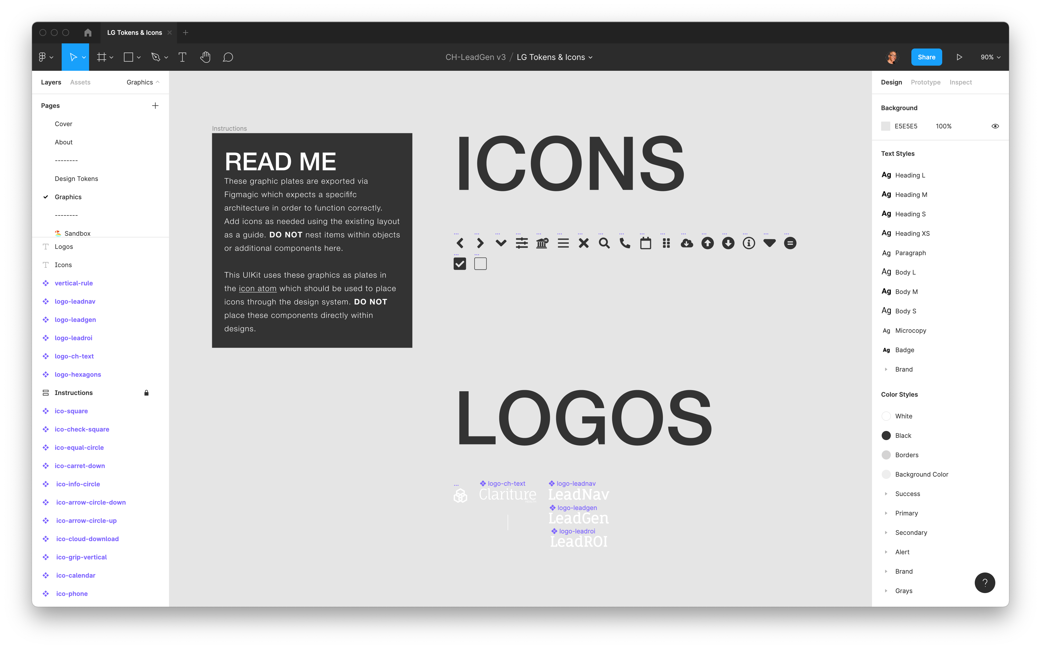 Custom SVGs are also imported via the Figma API at build.