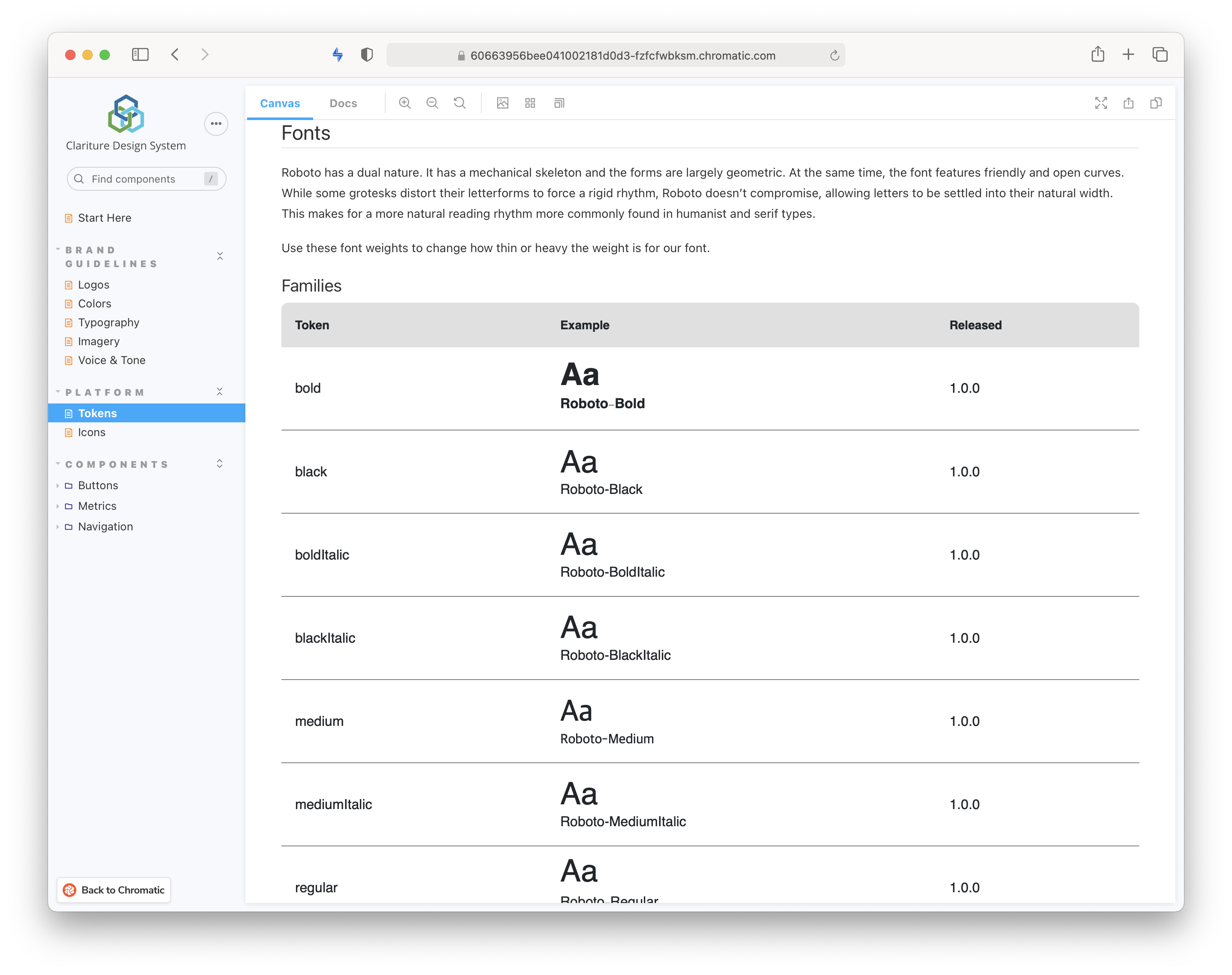 Fonts are dynamically pulled from the Figma UI Kit rather than manually coded.