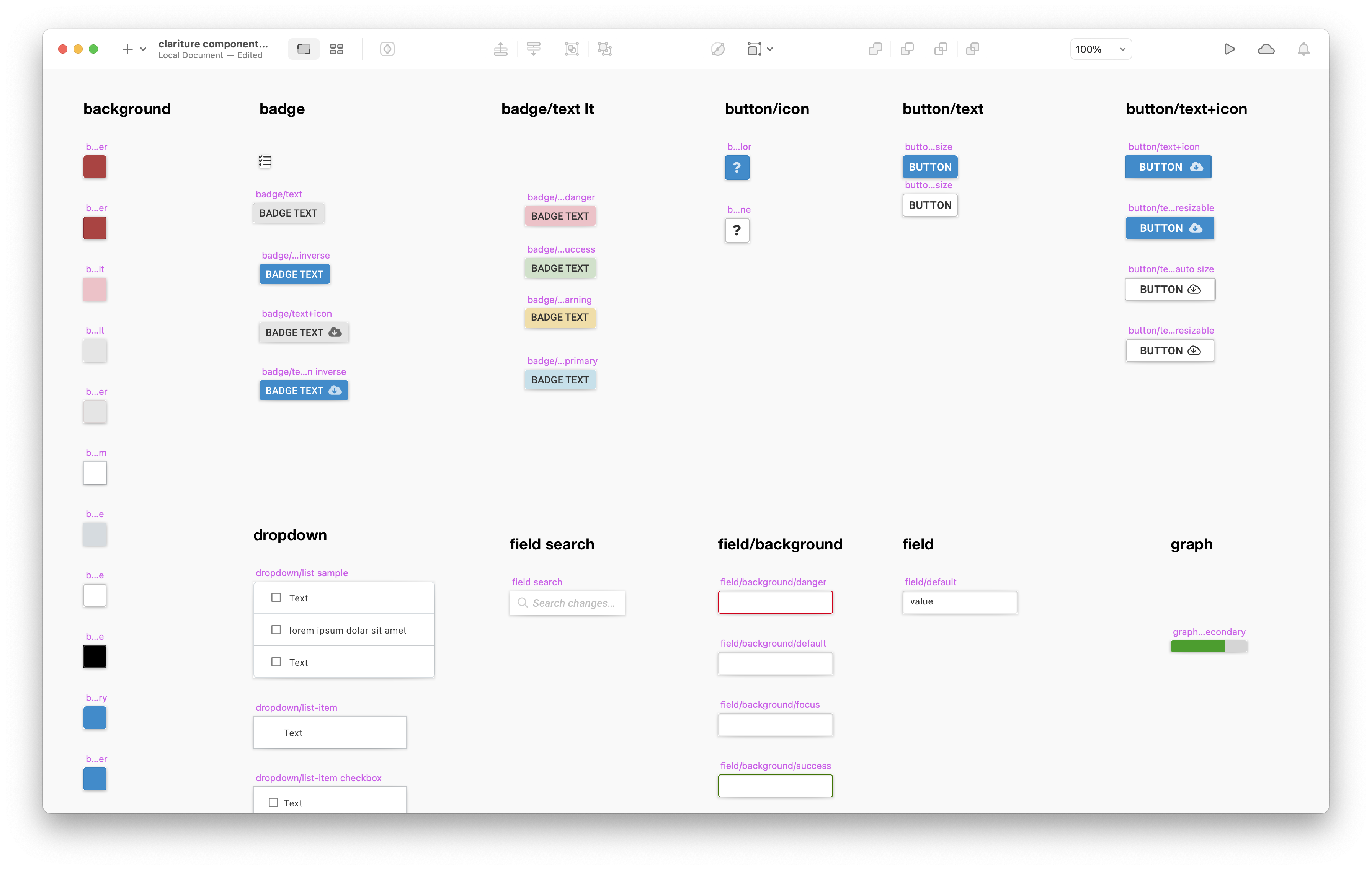 First round UI Kit in Sketch revealed a mess of
