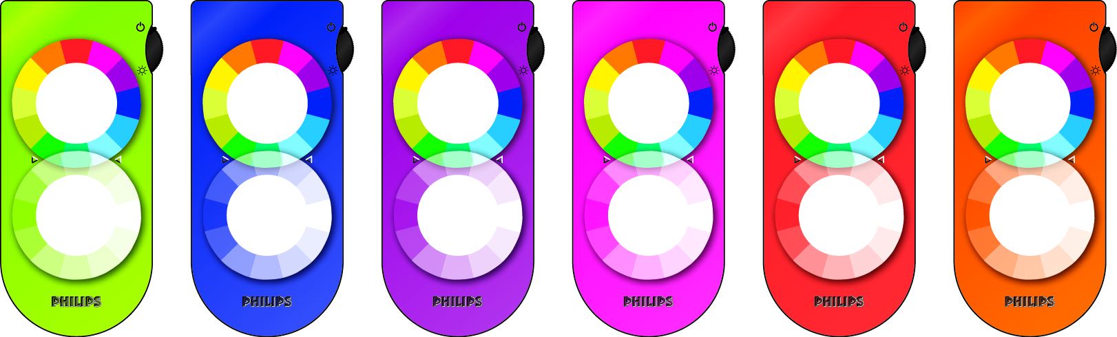 Color variations of the remote control