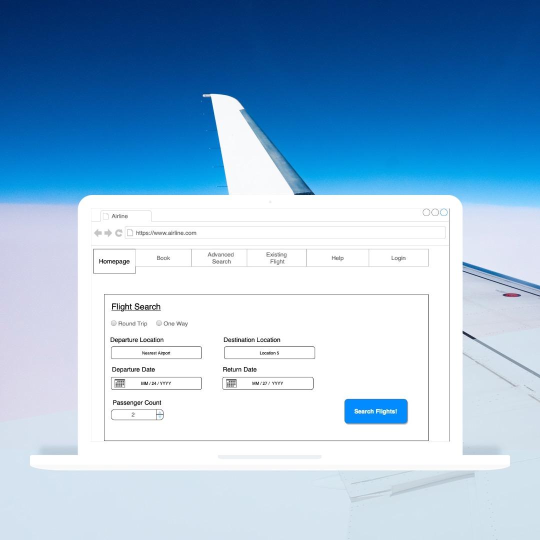 Airline Website Case Study
