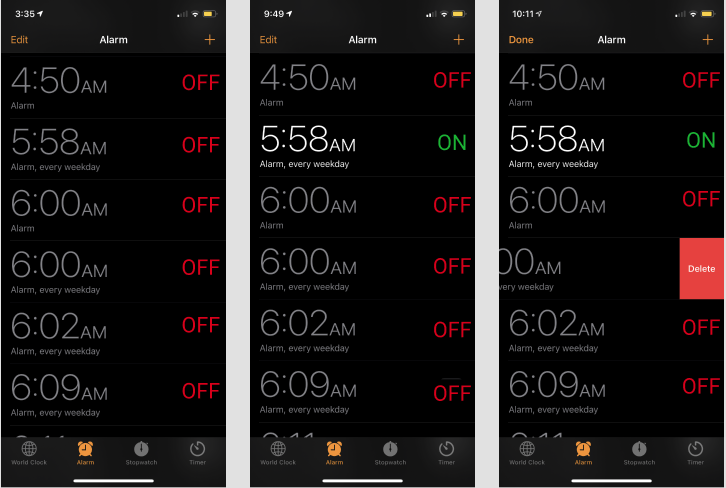 iOS Clock Application