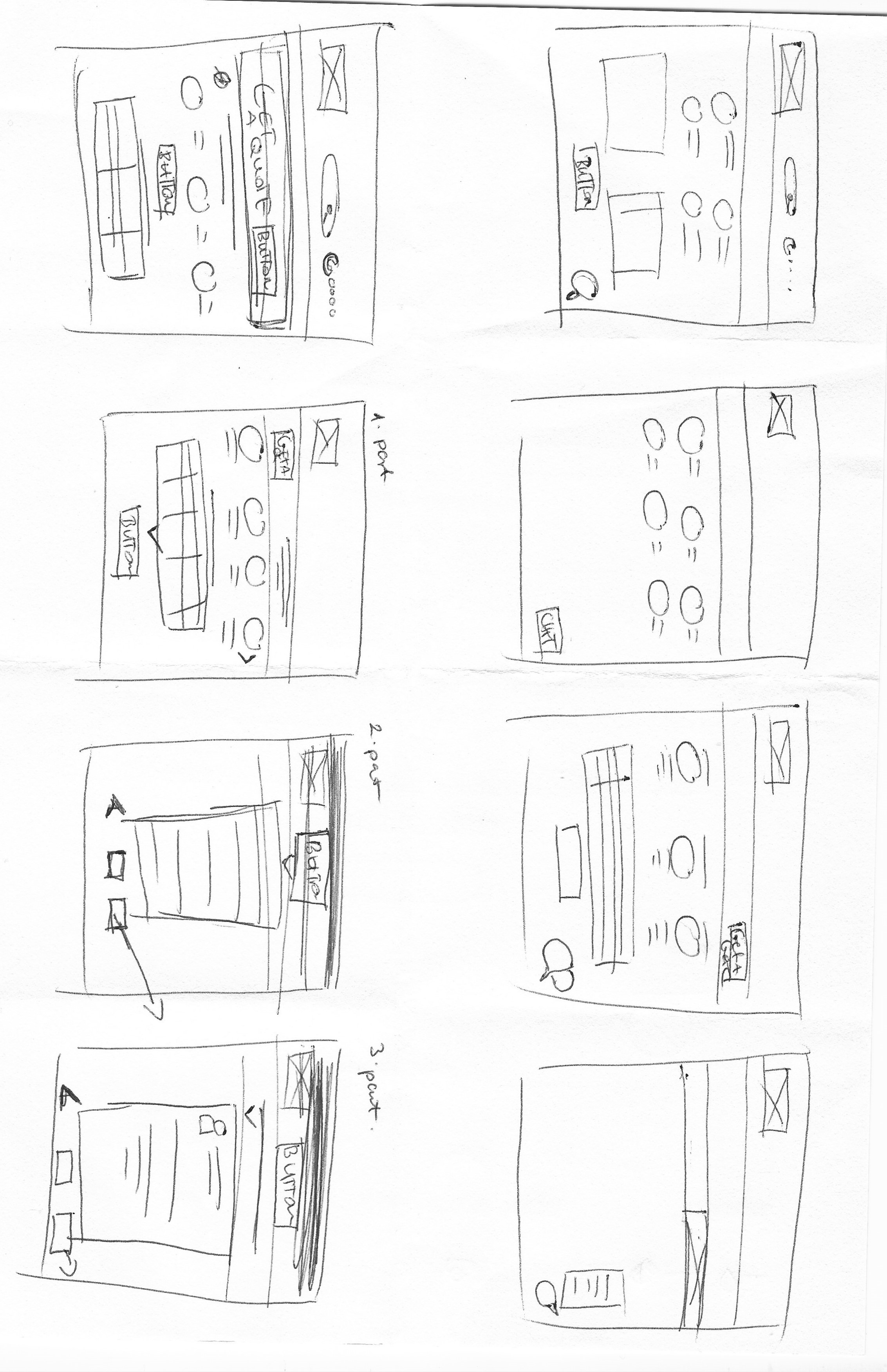 First sketches / Crazy Eights method
