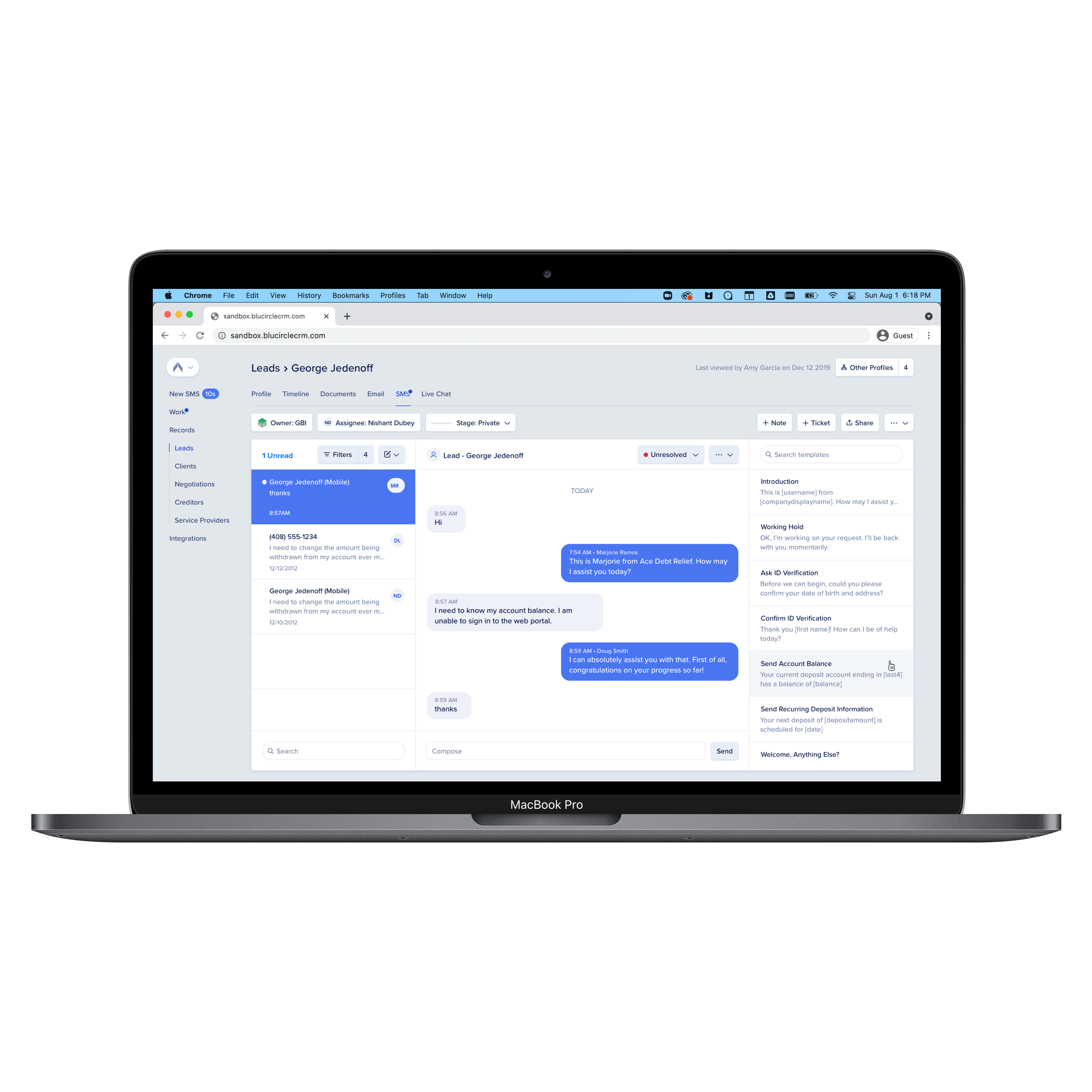 Designing a modern   CRM from scratch for the debt relief industry