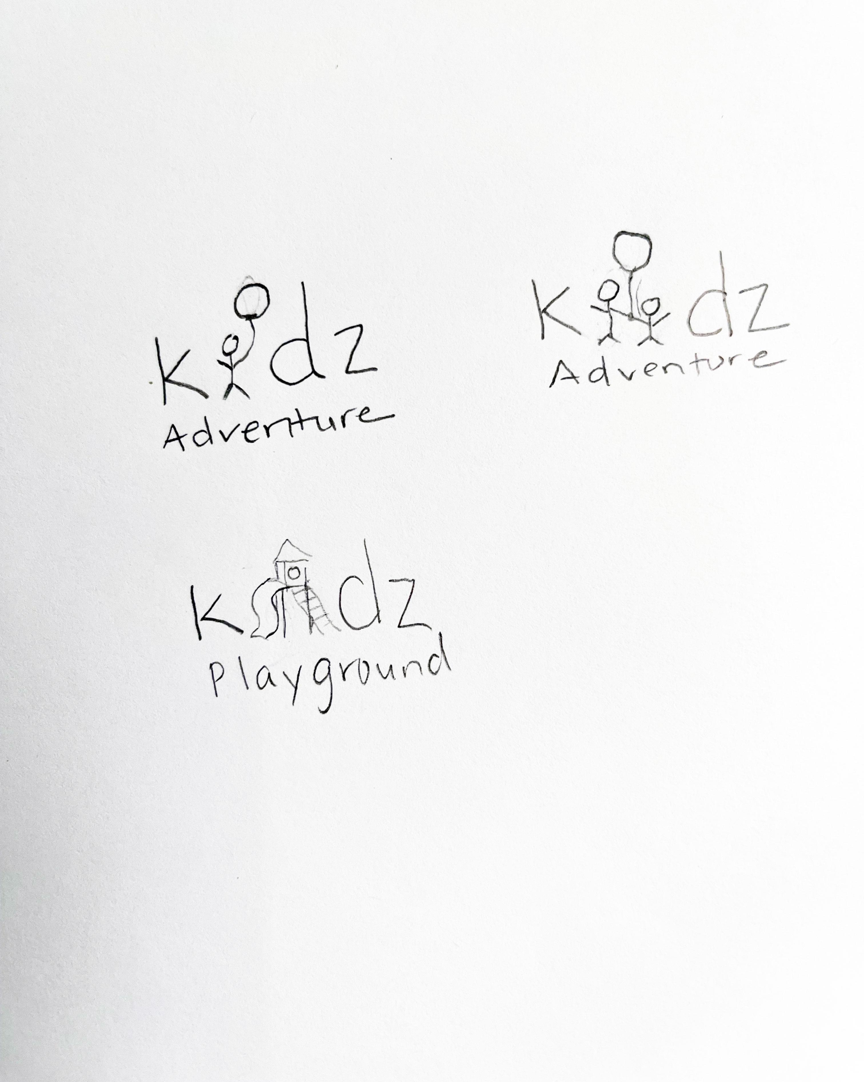 kidz logo sketches