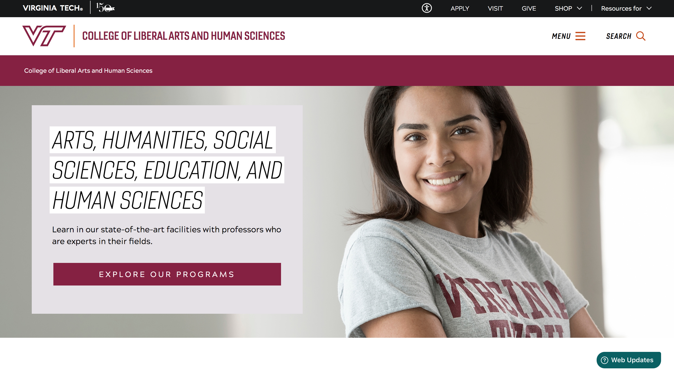 Check out the College at liberalarts.vt.edu!