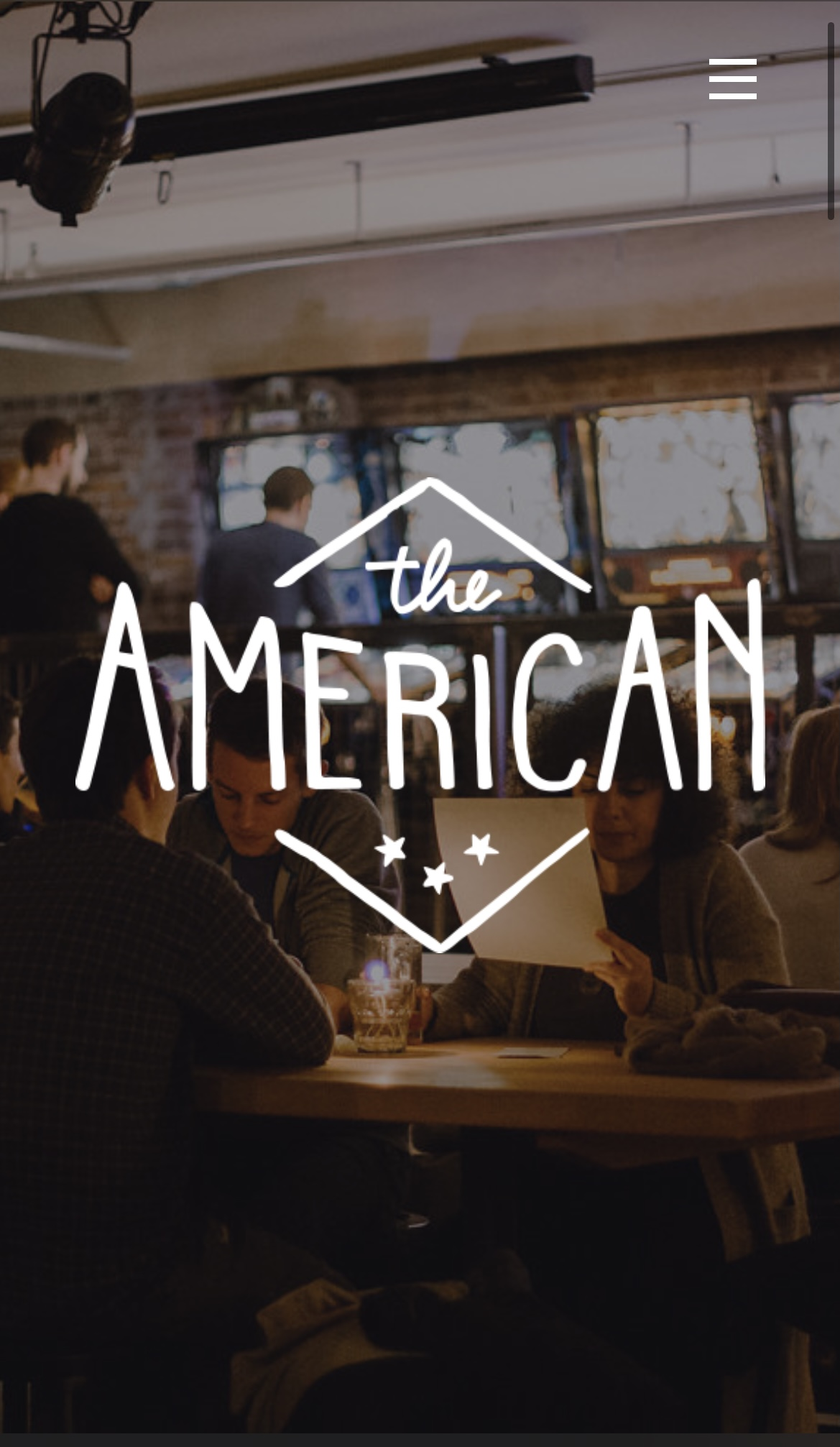 theamerican.ca Home Page (tablet view)